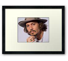 Cool Johnny Depp Framed Print