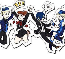 Persona 3 Velvet Friends by unoriginal-rin