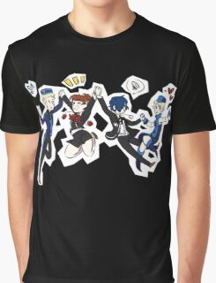Persona 3 Velvet Friends Graphic T-Shirt