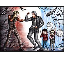 Hannibal Lecter vs John Reese Photographic Print