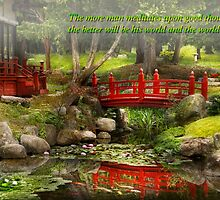 Inspiration - Japanese Garden - Meditation by Mike  Savad