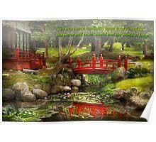 Inspiration - Japanese Garden - Meditation Poster