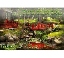 Inspiration - Japanese Garden - Meditation Photographic Print