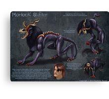 Morlock Shifter Reference Sheet Canvas Print