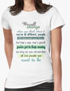 the doctor quote Womens Fitted T-Shirt