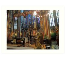 Gold & Glorious: Amsterdam Chruch at Christmas Art Print