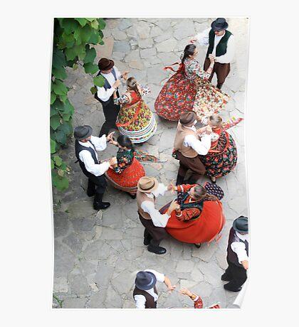 Romania - Folklore Dancing Poster