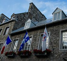 Old Stone Houses in Quebec City, Canada  by Georgia Mizuleva