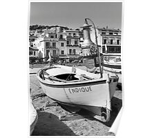 "Wooden Fishing Boat ""Enrique"" Poster"