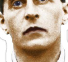 Ludwig Wittgenstein Portrait (colourized) Sticker