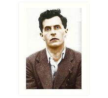 Ludwig Wittgenstein Portrait (colourized) Art Print