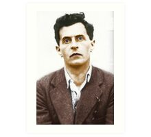Ludwig Wittgenstein Portrait (colourized) Art Print