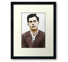Ludwig Wittgenstein Portrait (colourized) Framed Print