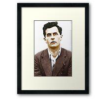 Ludwig Wittgenstein Portrait (colourized) Framed Print