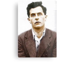 Ludwig Wittgenstein Portrait (colourized) Metal Print