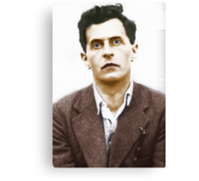 Ludwig Wittgenstein Portrait (colourized) Canvas Print