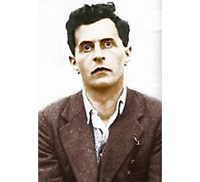 Ludwig Wittgenstein Portrait (colourized) Photographic Print