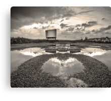 Impossible Landscape with Drive-In Canvas Print
