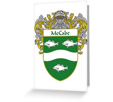 McCabe Coat of Arms/Family Crest Greeting Card