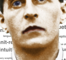Wittgenstein Tee colourized with Text Sticker