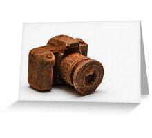 Chocolate Camera Greeting Card