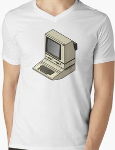 Apple ][ with DuoDrive Mens V-Neck T-Shirt