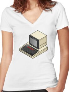 BBC Micro Women's Fitted V-Neck T-Shirt