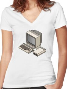 Commodore 64 Women's Fitted V-Neck T-Shirt