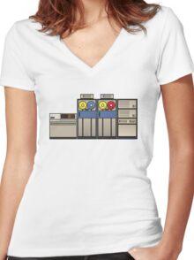 Vintage Mainframe Women's Fitted V-Neck T-Shirt
