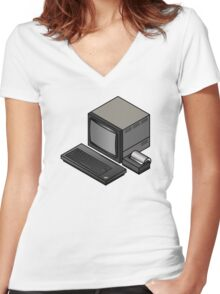 Sinclair Spectrum Women's Fitted V-Neck T-Shirt