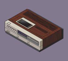 Vintage Woodgrain VCR Kids Tee