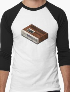 Vintage Woodgrain VCR Men's Baseball ¾ T-Shirt