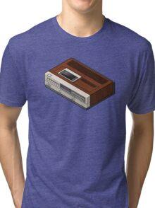 Vintage Woodgrain VCR Tri-blend T-Shirt