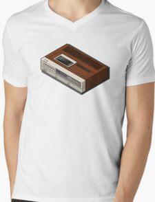 Vintage Woodgrain VCR Mens V-Neck T-Shirt