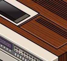 Vintage Woodgrain VCR Sticker