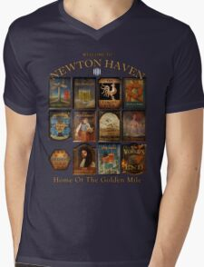Newton Haven Pubs Mens V-Neck T-Shirt