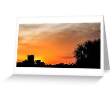 Sunset in Panama City Greeting Card