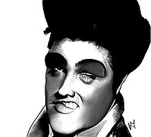 Elvis Presley caricature by Vittorio Magaletti