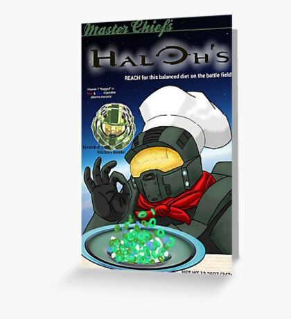 Haloh's cereal Greeting Card