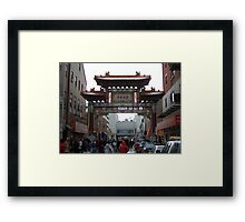Chinatown in 08 Framed Print