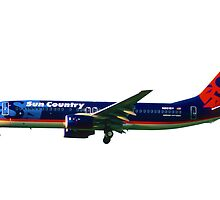 Sun Country Airlines Boeing 737-800 by boogeyman