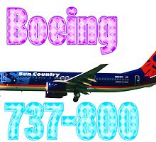 Sun Country Airlines Boeing 737-800 w text by boogeyman