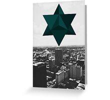 Star Tetrahedron Descent Greeting Card