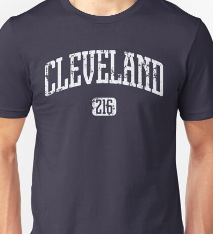 Cleveland 216 (White Print) Unisex T-Shirt