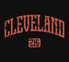 Cleveland 216 (Orange Print) Kids Tee