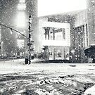 Times Square - Winter Night in the Snow - New York City by Vivienne Gucwa