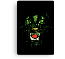 Fierce and Power Black Panther Canvas Print