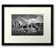 Entering Sedona in Black and White Framed Print