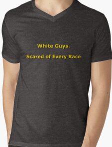 White Guys Mens V-Neck T-Shirt
