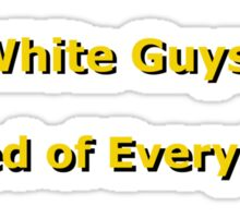 White Guys Sticker